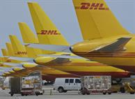 Line of DHL Jets