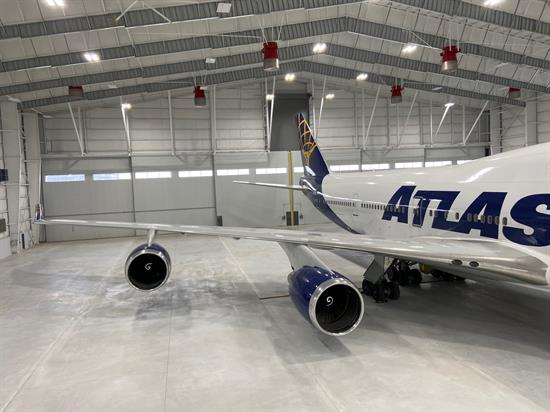 atlas air plane at feam opening