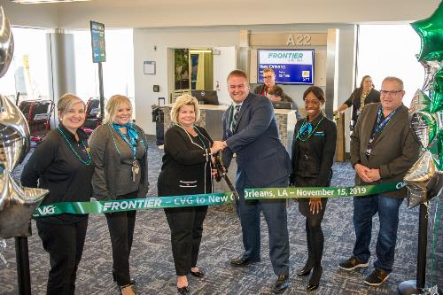 Ribbon cutting still photo